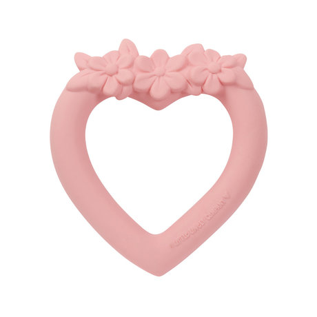 A Little Lovely Company Beißring Herz rosa bpa und phthalatfreies PVC 9x11x2cm