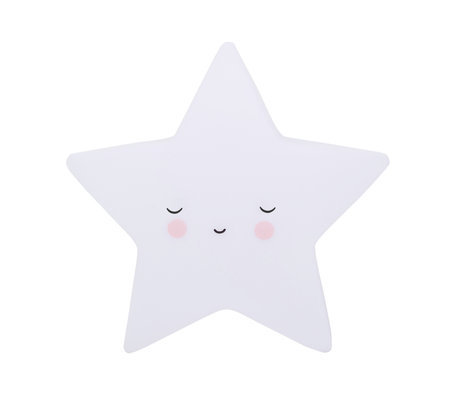 A Little Lovely Company Table lamp Sleeping Star white BPA and lead free PVC 14.5x5.5x13.5cm