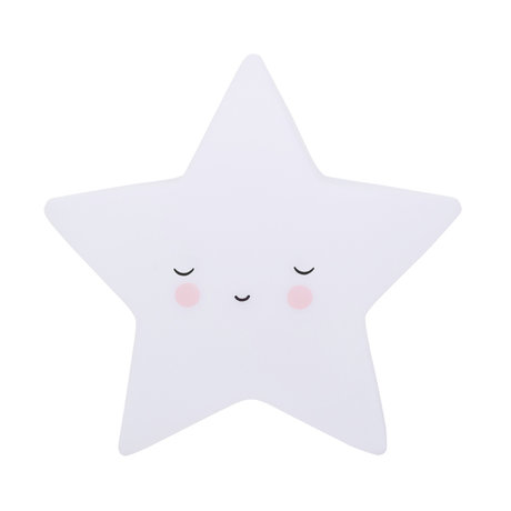 A Little Lovely Company Lampe de table Sleeping Star blanc BPA et PVC sans plomb 14.5x5.5x13.5cm