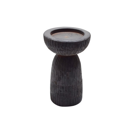 WOOOD Folko candlestick dark brown mango wood 28x28x43cm