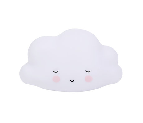 A Little Lovely Company Table lamp Sleeping Cloud white BPA and lead-free PVC 14.5x5.5x13.5cm