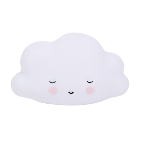 A Little Lovely Company Lampe de table Sleeping Cloud blanc BPA et PVC sans plomb 14.5x5.5x13.5cm