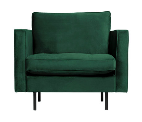 BePureHome Rodeo Classic Fauteuil Velvet Green Forest