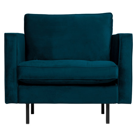 BePureHome Rodeo Classic Fauteuil Velvet Blue