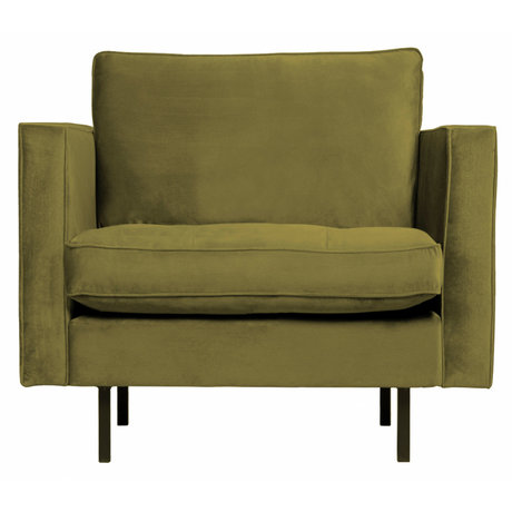 BePureHome Rodeo Classic Fauteuil Velvet Olive