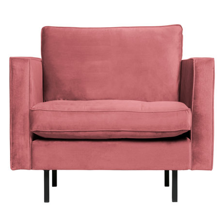 BePureHome Rodeo Classic Fauteuil Velvet Pink