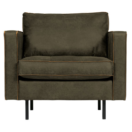 BePureHome Rodeo Classic Fauteuil Army