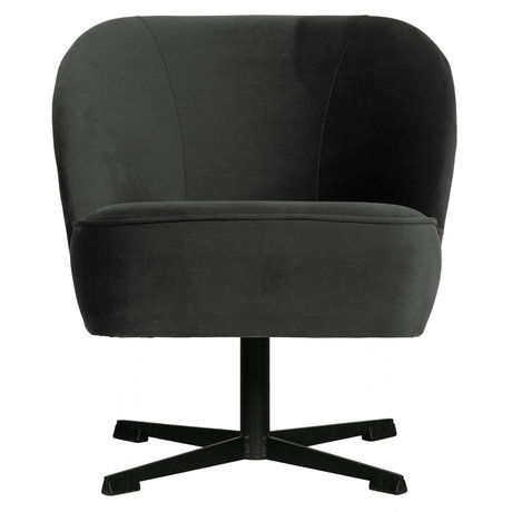 BePureHome Draaifauteuil Vogue zwart fluweel 65x65x69cm