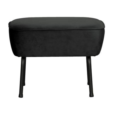 BePureHome Hocker Vogue zwart fluweel 55x46x40cm
