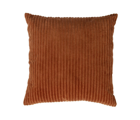 WOOOD Throw pillow Clint orange velvet cotton 45x45cm