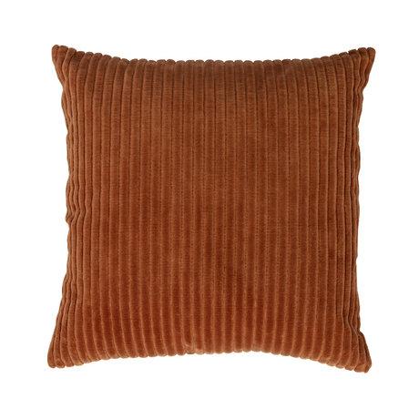 WOOOD Coussin Clint coton velours orange 45x45cm