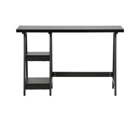 LEF collections Desk Duco black MDF 74x119x51cm