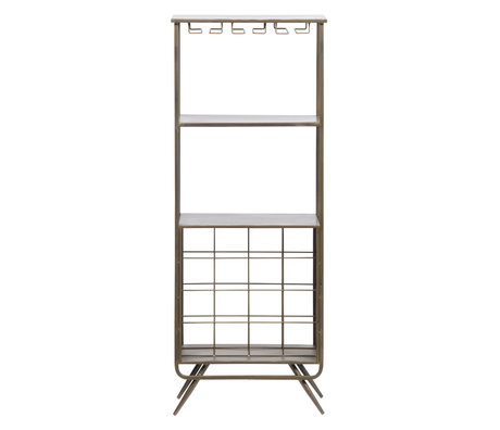 LEF collections Wine cabinet Vadim antique gray iron 118x46x31cm