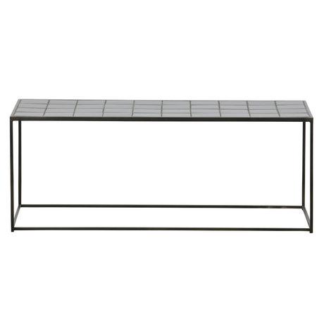 WOOOD Table basse Zeger en métal noir céramique 40x104x43cm