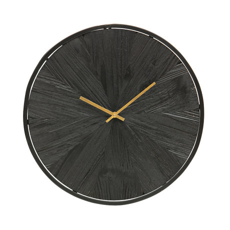 WOOOD Wall clock Valentino black wood 42x42x5cm
