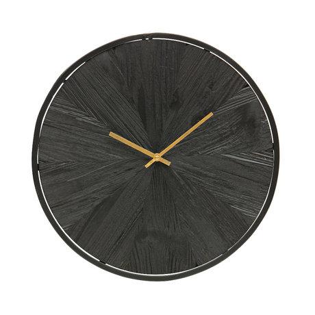 WOOOD Wandklok Valentino zwart hout 42x5x42cm