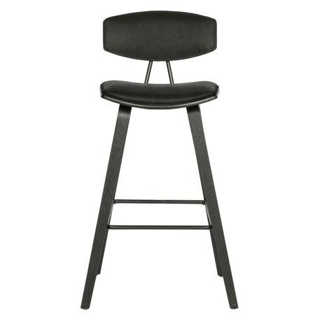 WOOOD Bar stool Senn black polyester 94x41x50cm