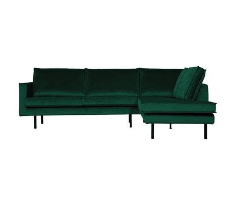 BePureHome Hoekbank Rodeo rechts groen fluweel 266x86/213x85cm