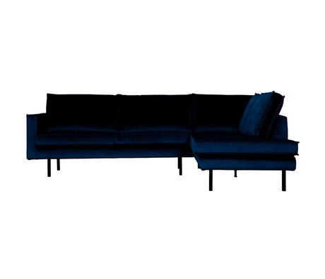 BePureHome Hoekbank Rodeo rechts donkerblauw fluweel 266x86/213x85cm