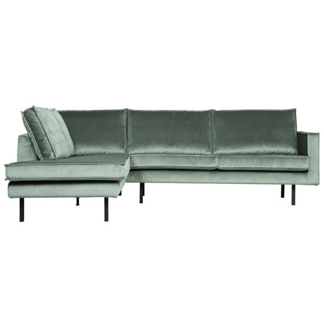 BePureHome Rodeo Hoekbank Links Velvet Mint