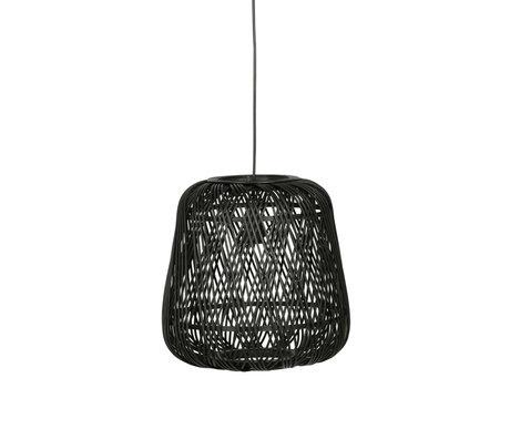 LEF collections Moza Hanglamp Bamboe Zwart