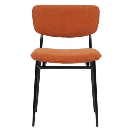 LEF collections DanÉ Eetkamerstoel Ribstof Oranje