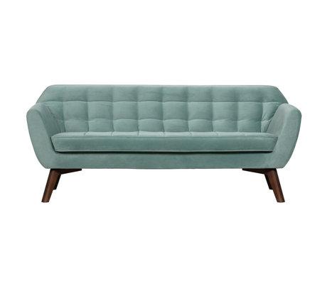 LEF collections Bank Roxy lichtblauw fluweel 187x82x75cm