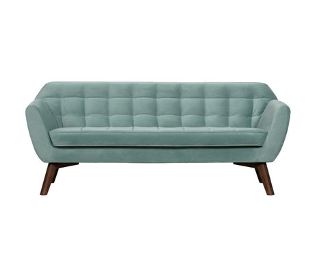 LEF collections Roxy Sofa Fluweel Lichtblauw