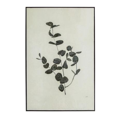 WOOOD Yaro Eucalyptus Kunstlijst Zwart