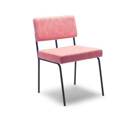 FÉST Chaise de salle à manger Monday rose Febrik Razzle dazzle Blossom 50 / 56x55x78cm