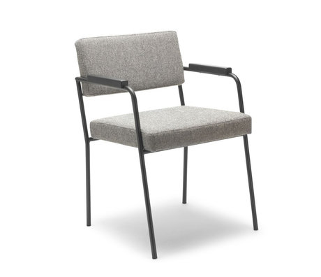 FÉST Eetkamerkamerstoel Monday met armleuningen grijs Hallingdal 65-116 50/56x55x78cm