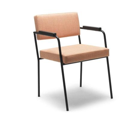 FÉST Chaise de salle à manger Monday avec accoudoirs marron clair Kvadrat Remix2612 50 / 56x55x78cm