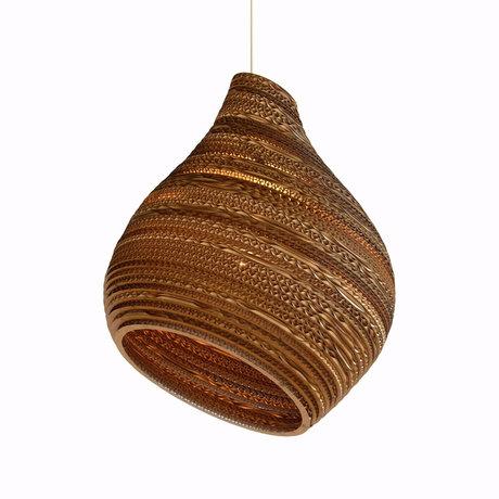 Graypants Hanglamp Hive9 naturel karton Ø23x28cm