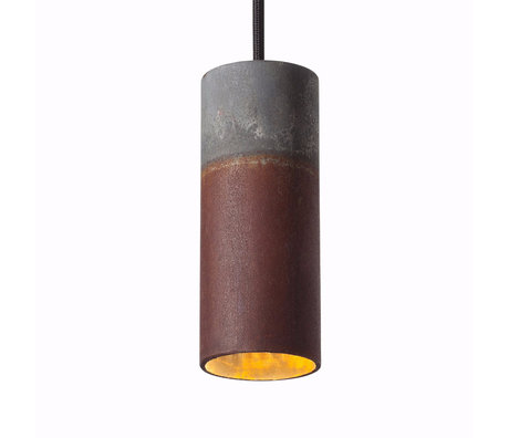 Graypants Hanglamp 15v grijs roestbruin staal Ø6x15cm