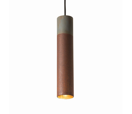 Graypants Hanglamp 30v grijs roestbruin staal Ø6x30cm