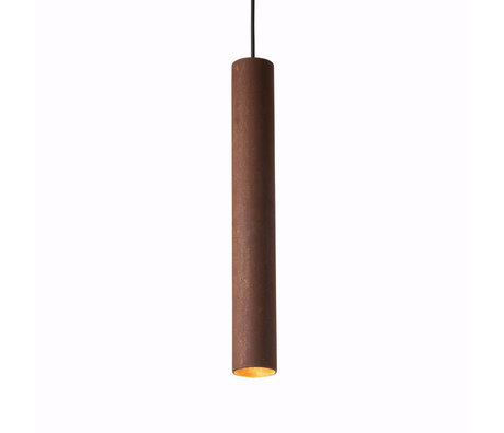 Graypants Hanglamp 45v roestbruin staal Ø6x45cm