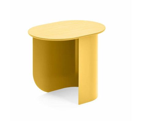 FÉST Sidetable Plateau yellow wood metal 44x32x40cm