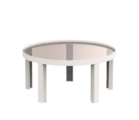 FÉST Koffietafel Cedric zand bruin metaal glas L Ø70x34cm