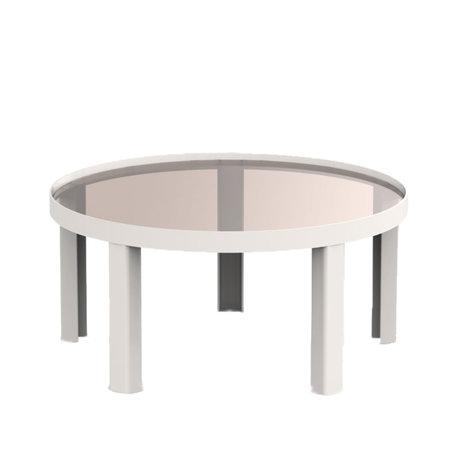 FÉST Table basse Cédric verre brun sable métal L Ø70x34cm