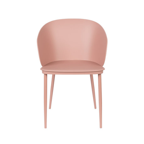 LEF collections Dining room chair Sofia pink plastic steel 57x53.5x81cm