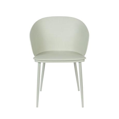 LEF collections Chaise de salle à manger Sofia vert menthe plastique acier 57x53.5x81cm