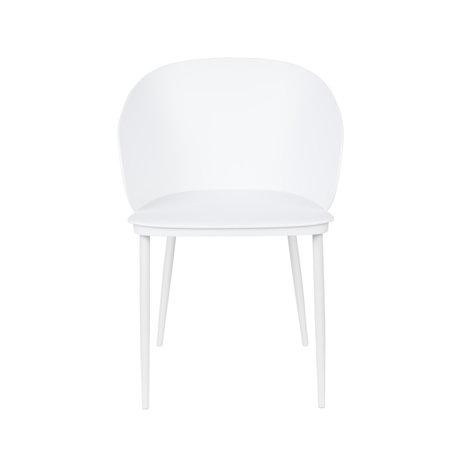 LEF collections Chaise de salle à manger Sofia plastique blanc acier 57x53.5x81cm