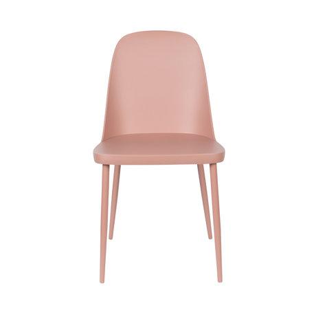 LEF collections Chaise de salle à manger Kaj acier plastique rose 46x53.5x85cm