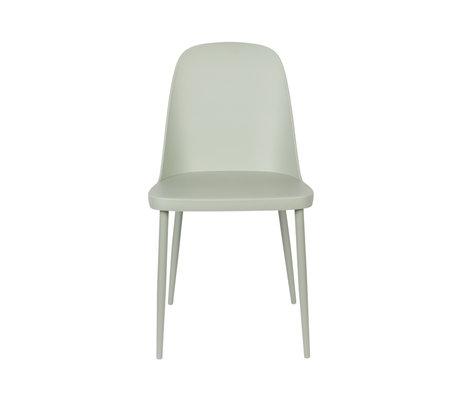 LEF collections Chaise de salle à manger Kaj vert acier plastique 46x53.5x85cm