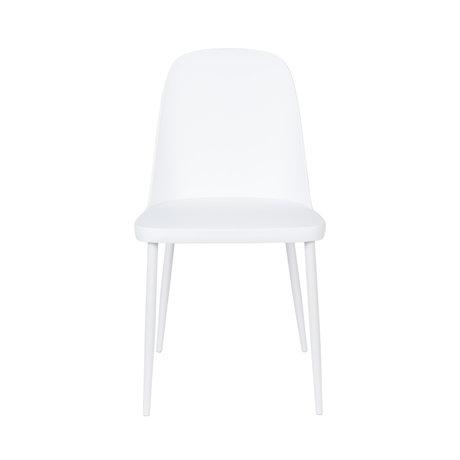 LEF collections Chaise de salle à manger Kaj en plastique blanc acier 46x53.5x85cm