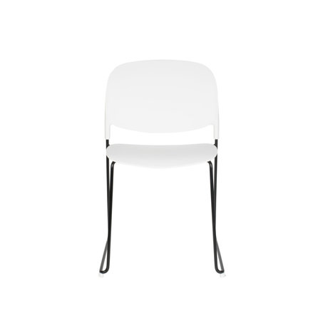 LEF collections Dining room chair Kristine white black polyester steel 48.5x52.5x80cm