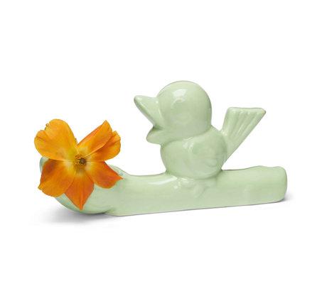 Jasmin Djerzic Vase Flower Thief mint green ceramic 7.5x14x3.5cm