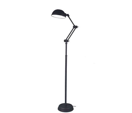 LEF collections Floorlamp Bologna black metal 160x25x25cm
