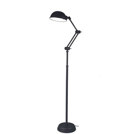 LEF collections Stehlampe Bologna black metal 160x25x25cm