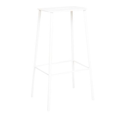 Frama Barstoel Adam tuin wit staal 35x25x76cm